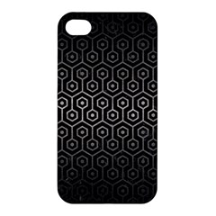 Hexagon1 Black Marble & Gray Metal 1 Apple Iphone 4/4s Hardshell Case