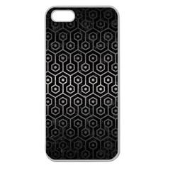 Hexagon1 Black Marble & Gray Metal 1 Apple Seamless Iphone 5 Case (clear)