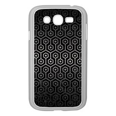 Hexagon1 Black Marble & Gray Metal 1 Samsung Galaxy Grand Duos I9082 Case (white)