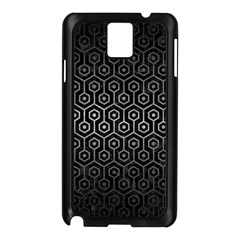 Hexagon1 Black Marble & Gray Metal 1 Samsung Galaxy Note 3 N9005 Case (black)