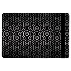 Hexagon1 Black Marble & Gray Metal 1 Ipad Air 2 Flip