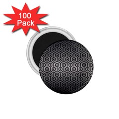 Hexagon1 Black Marble & Gray Metal 1 (r) 1 75  Magnets (100 Pack)