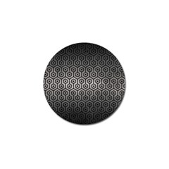 Hexagon1 Black Marble & Gray Metal 1 (r) Golf Ball Marker
