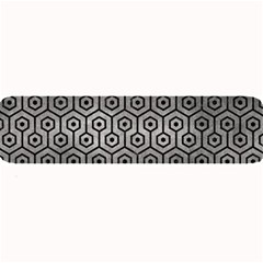 Hexagon1 Black Marble & Gray Metal 1 (r) Large Bar Mats