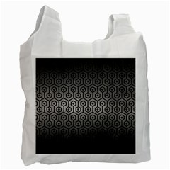 Hexagon1 Black Marble & Gray Metal 1 (r) Recycle Bag (two Side)