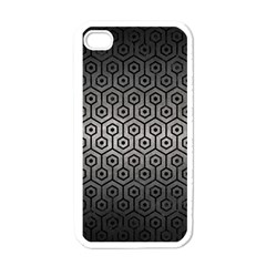 Hexagon1 Black Marble & Gray Metal 1 (r) Apple Iphone 4 Case (white)