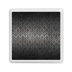Hexagon1 Black Marble & Gray Metal 1 (r) Memory Card Reader (square)