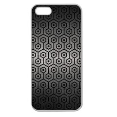 Hexagon1 Black Marble & Gray Metal 1 (r) Apple Seamless Iphone 5 Case (clear)