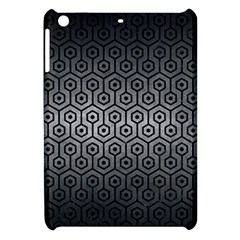 Hexagon1 Black Marble & Gray Metal 1 (r) Apple Ipad Mini Hardshell Case