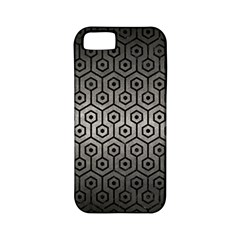 Hexagon1 Black Marble & Gray Metal 1 (r) Apple Iphone 5 Classic Hardshell Case (pc+silicone)