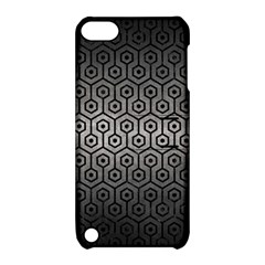 Hexagon1 Black Marble & Gray Metal 1 (r) Apple Ipod Touch 5 Hardshell Case With Stand