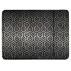 Hexagon1 Black Marble & Gray Metal 1 (r) Samsung Galaxy Tab 7  P1000 Flip Case