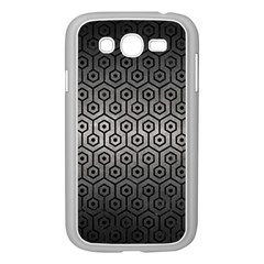 Hexagon1 Black Marble & Gray Metal 1 (r) Samsung Galaxy Grand Duos I9082 Case (white)