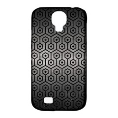 Hexagon1 Black Marble & Gray Metal 1 (r) Samsung Galaxy S4 Classic Hardshell Case (pc+silicone)