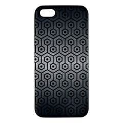 Hexagon1 Black Marble & Gray Metal 1 (r) Iphone 5s/ Se Premium Hardshell Case