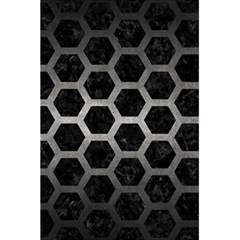 Hexagon2 Black Marble & Gray Metal 1 5 5  X 8 5  Notebooks