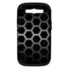 Hexagon2 Black Marble & Gray Metal 1 Samsung Galaxy S Iii Hardshell Case (pc+silicone)