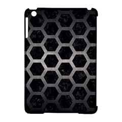 Hexagon2 Black Marble & Gray Metal 1 Apple Ipad Mini Hardshell Case (compatible With Smart Cover)