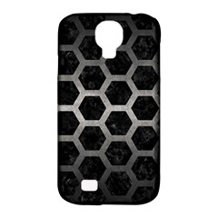 Hexagon2 Black Marble & Gray Metal 1 Samsung Galaxy S4 Classic Hardshell Case (pc+silicone)