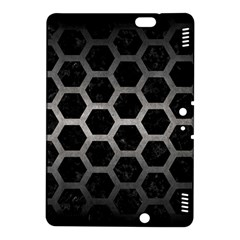 Hexagon2 Black Marble & Gray Metal 1 Kindle Fire Hdx 8 9  Hardshell Case