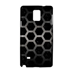 Hexagon2 Black Marble & Gray Metal 1 Samsung Galaxy Note 4 Hardshell Case