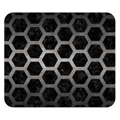 Hexagon2 Black Marble & Gray Metal 1 Double Sided Flano Blanket (small)