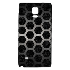 Hexagon2 Black Marble & Gray Metal 1 Galaxy Note 4 Back Case