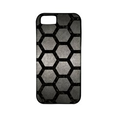 Hexagon2 Black Marble & Gray Metal 1 (r) Apple Iphone 5 Classic Hardshell Case (pc+silicone)