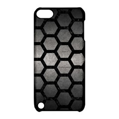Hexagon2 Black Marble & Gray Metal 1 (r) Apple Ipod Touch 5 Hardshell Case With Stand