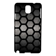 Hexagon2 Black Marble & Gray Metal 1 (r) Samsung Galaxy Note 3 N9005 Hardshell Case
