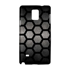 Hexagon2 Black Marble & Gray Metal 1 (r) Samsung Galaxy Note 4 Hardshell Case