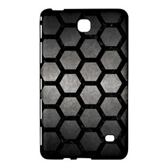 Hexagon2 Black Marble & Gray Metal 1 (r) Samsung Galaxy Tab 4 (7 ) Hardshell Case