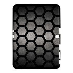 Hexagon2 Black Marble & Gray Metal 1 (r) Samsung Galaxy Tab 4 (10 1 ) Hardshell Case