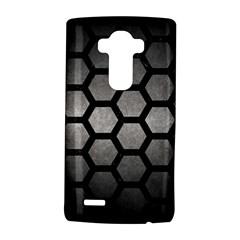 Hexagon2 Black Marble & Gray Metal 1 (r) Lg G4 Hardshell Case