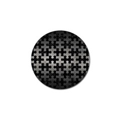 Puzzle1 Black Marble & Gray Metal 1 Golf Ball Marker (4 Pack)