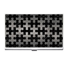 Puzzle1 Black Marble & Gray Metal 1 Business Card Holders