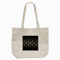 Puzzle1 Black Marble & Gray Metal 1 Tote Bag (cream)