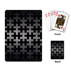 Puzzle1 Black Marble & Gray Metal 1 Playing Card