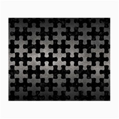 Puzzle1 Black Marble & Gray Metal 1 Small Glasses Cloth (2 Side)