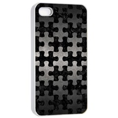 Puzzle1 Black Marble & Gray Metal 1 Apple Iphone 4/4s Seamless Case (white)