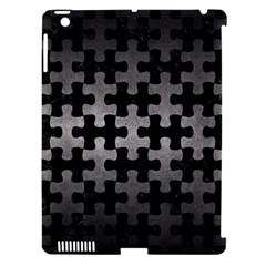 Puzzle1 Black Marble & Gray Metal 1 Apple Ipad 3/4 Hardshell Case (compatible With Smart Cover)