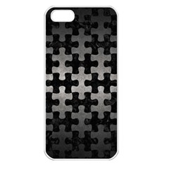 Puzzle1 Black Marble & Gray Metal 1 Apple Iphone 5 Seamless Case (white)