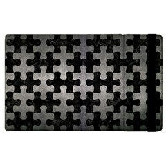 Puzzle1 Black Marble & Gray Metal 1 Apple Ipad 2 Flip Case