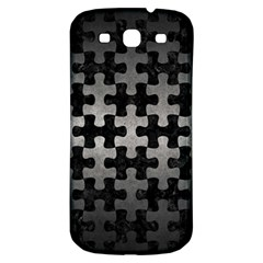Puzzle1 Black Marble & Gray Metal 1 Samsung Galaxy S3 S Iii Classic Hardshell Back Case