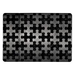 Puzzle1 Black Marble & Gray Metal 1 Samsung Galaxy Tab 10 1  P7500 Flip Case