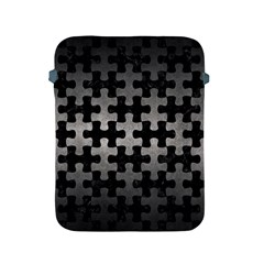 Puzzle1 Black Marble & Gray Metal 1 Apple Ipad 2/3/4 Protective Soft Cases