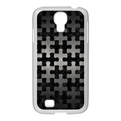 Puzzle1 Black Marble & Gray Metal 1 Samsung Galaxy S4 I9500/ I9505 Case (white)