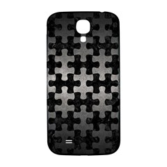 Puzzle1 Black Marble & Gray Metal 1 Samsung Galaxy S4 I9500/i9505  Hardshell Back Case