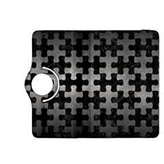 Puzzle1 Black Marble & Gray Metal 1 Kindle Fire Hdx 8 9  Flip 360 Case