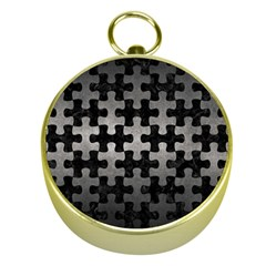 Puzzle1 Black Marble & Gray Metal 1 Gold Compasses